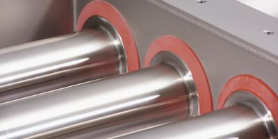 """Detail těsnění """"Easy Cleanflow"""" magnetického separátoru - prachotěsný."""