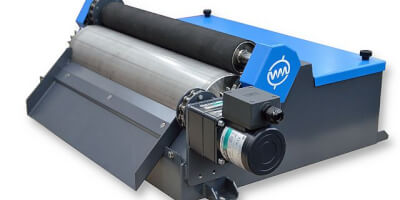 Magnetic roller and wringer roller - WAMAG wet magnetic drum separator.