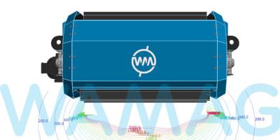 Magnetický systém RIPPERu je tak silný, že překoná řadu elektromagnetických závěsných separátorů obvykle používaných pro instalaci napříč nad pásy šířky 800–1400 mm (až do 11 kW).