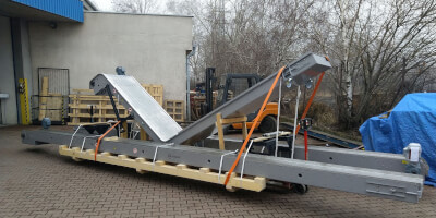 Three magnetic conveyors prepared to shipment.