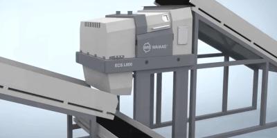 Separátor neželezných kovů LOCUST - návrh zabudování do technologické linky