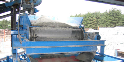 Барабанный магнитный сепаратор - recyklace sklaутилизация стекла