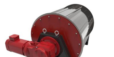 Permanentni bubnový separátor - zpracováni kovového šrotu