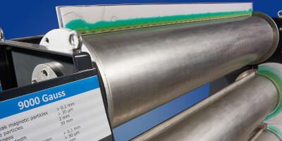Bubnový magnetický separátor - typy 3000, 6000, 9000 gauss - detail