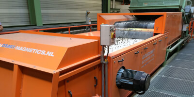 Eddy Current separator of non-ferrous metals - in operation