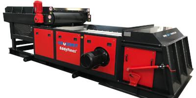EddyFines - сепаратор цветных металлов- podání pásovým dopravníke