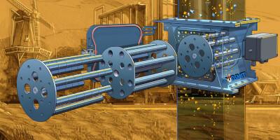 Rotační tyčové magnetické separátory - Cleanflow