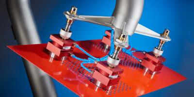 Magnetické grippery - unašeče - manipulace s perforovanými plechy