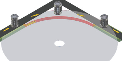 Magnetické vedení s obloukem