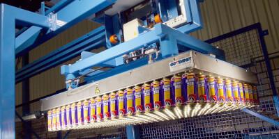 Paletizační magnet - ocelová konstrukce