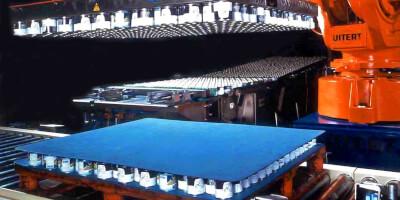 Paletizační magnet v kombinaci s robotem