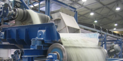 Bubnový magnetický separátor - recyklace skla