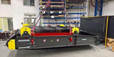Instalace detektoru kovů a elektromagnetického separátoru