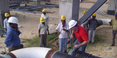 Demagnetization of pipe on site