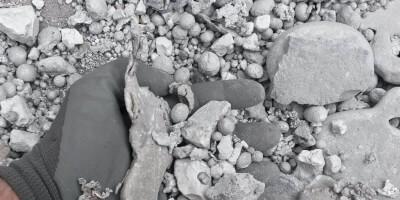 Алюминий - шлак из мусоросжигательного завода - крупная фракция
