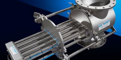 Magnetický filtr - průmyslové užití - pneumatické ovládání