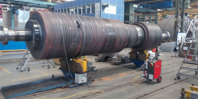 Demagnetizace rotoru turbíny