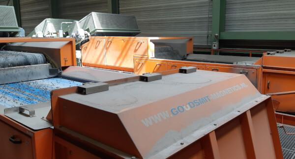 Магнитная сепарация железа и цветных металлов на мусоросжигательном заводе